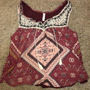 Tank sleeved blouse